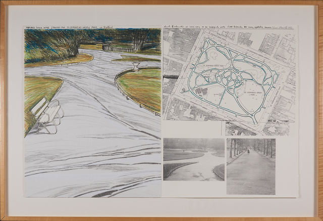 Christo, 'Wrapped Walk Ways (project for Stephen's Green  Park in Dublin)', 1983, Rago