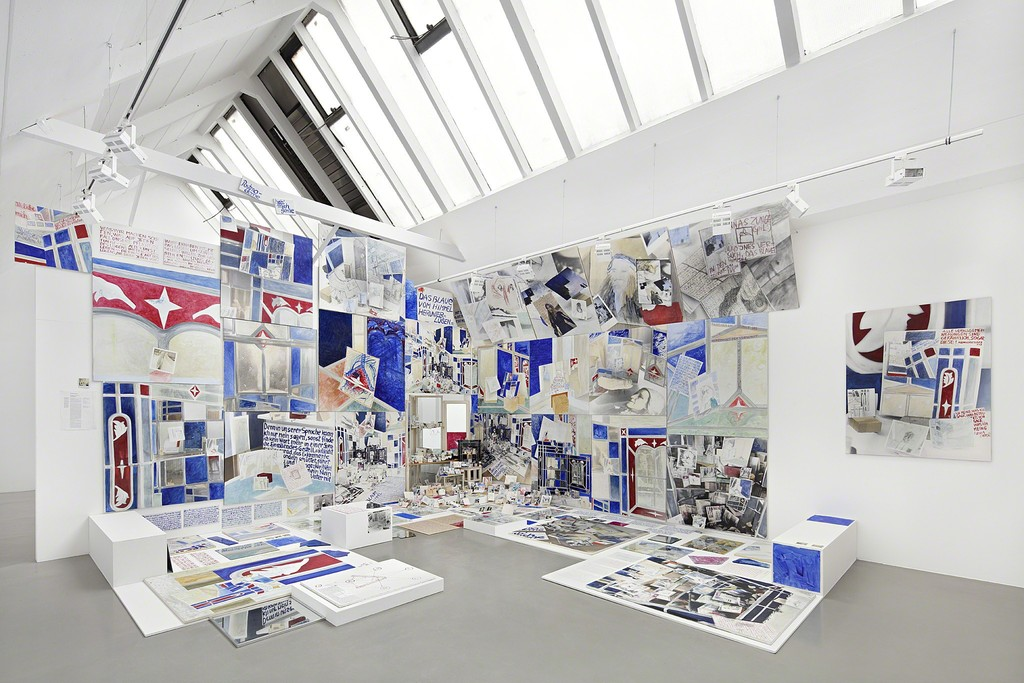 """Anna Oppermann """"Paradoxical Intentions"""", installation view at Galerie Barbara Thumm, 2016, Photo: Hans-Georg Gaul"""