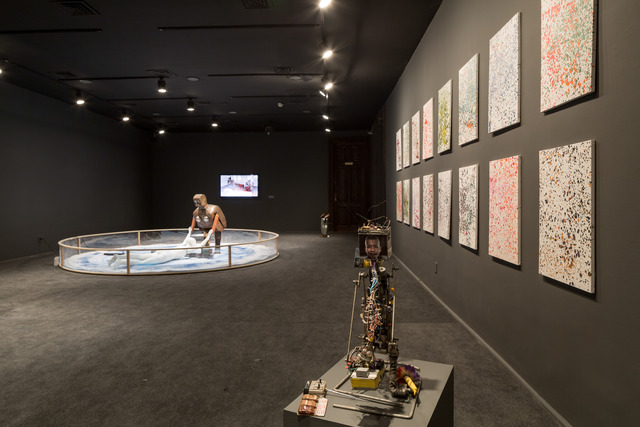 , 'Ignition Robot, and Dot-Painting Damien Hirst as part of Wu Yulu's Robot Factory, Centro Cultural Banco do Brasil, Rio de Janeiro,' 2013, Cai Studio