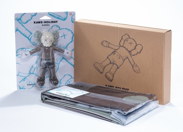 KAWS, 'KAWS:Holiday Bath Toy and Floating Bed (two works)', 2018, Heritage Auctions