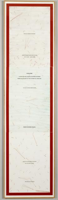, 'Porcupine,' 1982, Crown Point Press