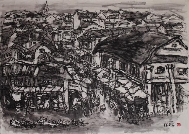 , 'Old Street Landscape,' , Ode to Art