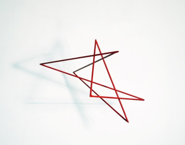 , 'Trait 37 rouge de chine,' 2013, Galerie Marie-Robin