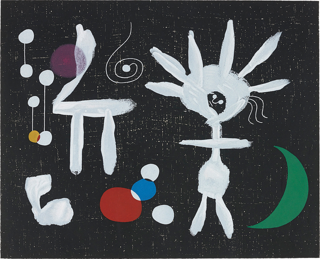 Joan Miró, 'Rose Matinale au Clair de la lune (Morning Rose in the Light of the Moon)', 1958, Phillips