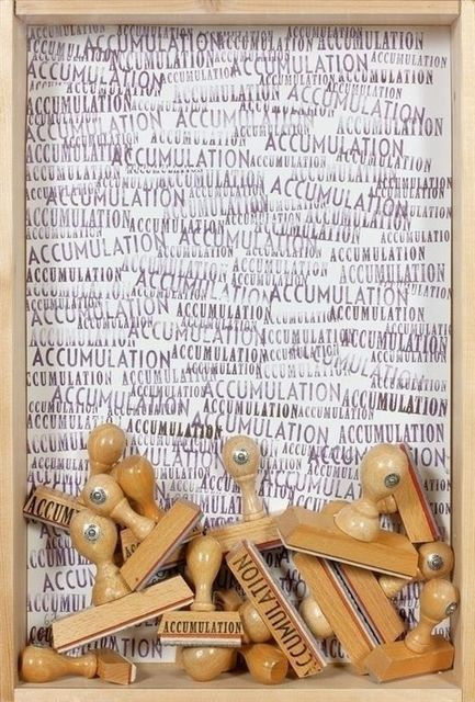 , 'Accumulation,' 1973, Zucker Art Books