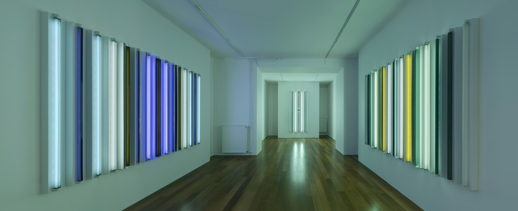 Exhibition View, Robert Irwin, Galerie Xippas, Geneva, Switzerland, 2015. © Philipp Scholtz Rittermann