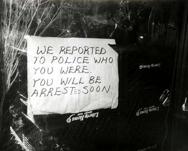 , 'Funny Sign (We reported you to the police...),' 1981, The Future Perfect