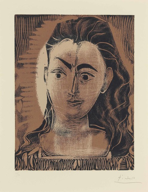 Pablo Picasso, 'Petit buste de femme', 1962, Print, Linocut in colors, on Arches paper, Christie's