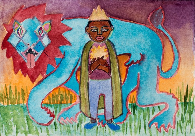, 'young king with star and lion,' 2018, Kate Oh Gallery