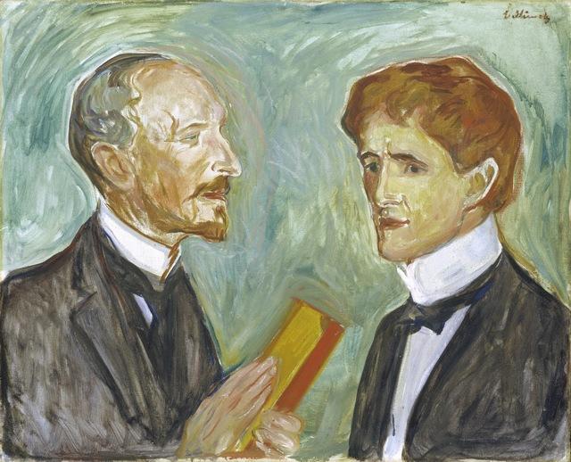 Edvard Munch, 'The Art Collector Albert Kollmann and the writer Sten Drewsen', 1901, ARS/Art Resource