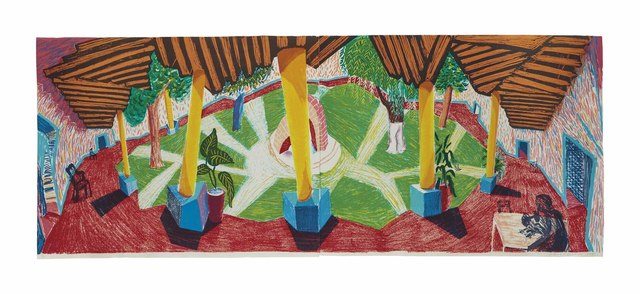 David Hockney, 'Hotel Acatlán: Two Weeks Later, from: The Moving Focus Series', 1985, Christie's