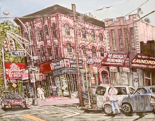 , 'Queens-Woodside Street Scene,' 2015, Fountain House Gallery