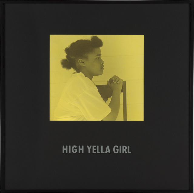 Carrie Mae Weems, 'High Yella Girl from Colored People', 1988-1989, Phillips