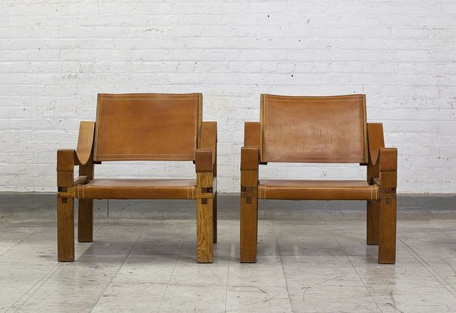 , 'Pair of leather armchairs,' ca. 1960, Magen H Gallery