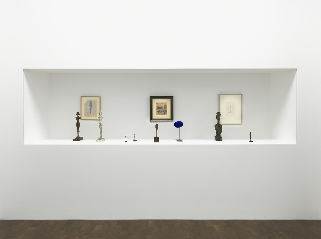 Photo: Mike Bruce/Courtesy Gagosian Gallery. Giacometti artworks © Alberto Giacometti Estate/Licensed in the UK by ACS and DACS, 2016. Yves Klein artworks © Yves Klein, ADAGP, Paris/DACS, London.