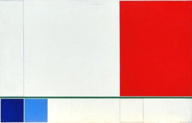 , 'Proposición del ultramar al violeta, rectángulo rojo,' 1985, Henrique Faria Fine Art