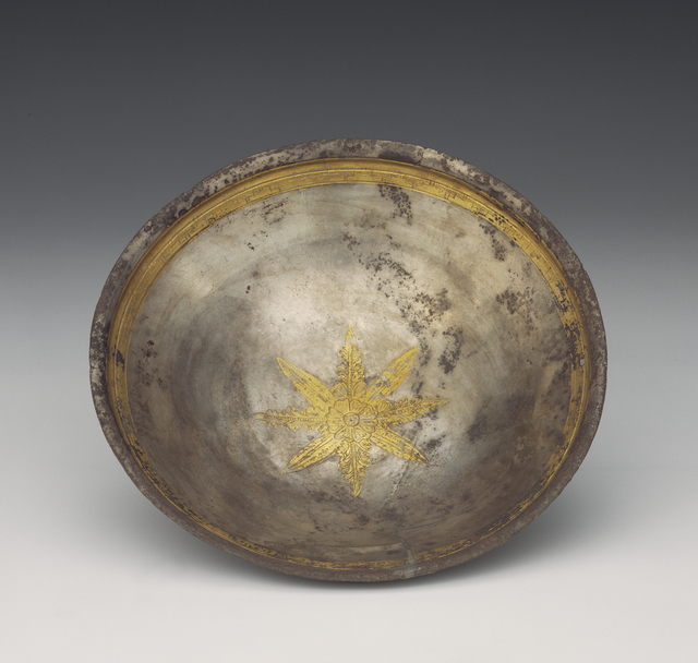 'Bowl with Leaf Calyx Medallion',  2nd -1st century B.C., J. Paul Getty Museum