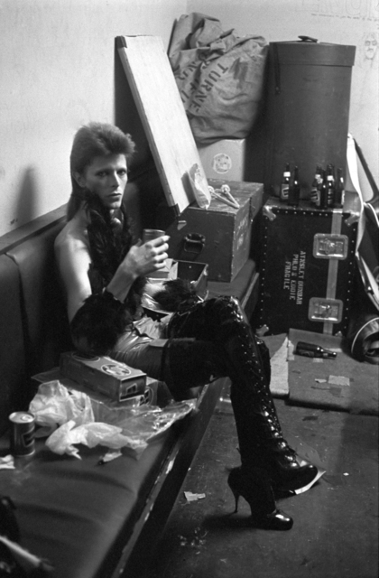 , 'David Bowie Backstage,' ca. 1975, Mouche Gallery
