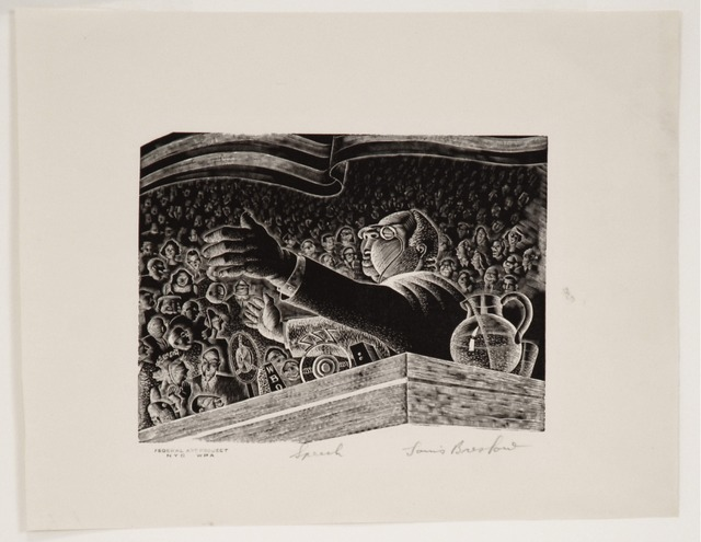 , 'The Speech,' ca. 1935, Sragow Gallery