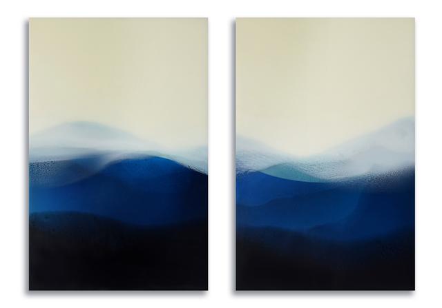 Marina Savashynskaya Dunbar, 'Landless (diptych)', 2019, Painting, Mixed media, resin, panel, Miller Gallery Charleston
