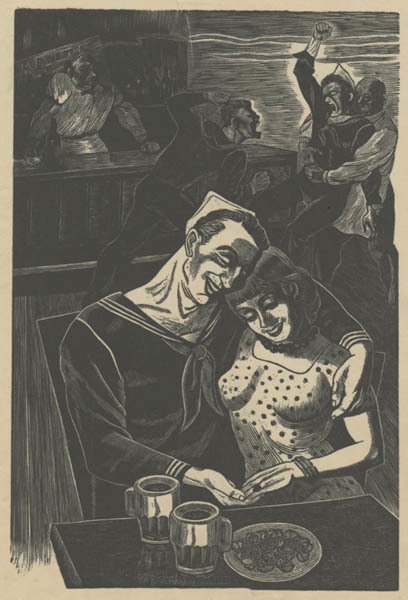 , 'The Bar or Bar Flies or Sailors in Café,' 1941, Childs Gallery
