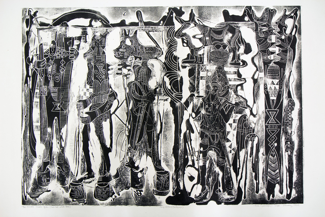 , 'Ikemiki Imiko Ipiki (Black & White Base),' 1985, TAFETA