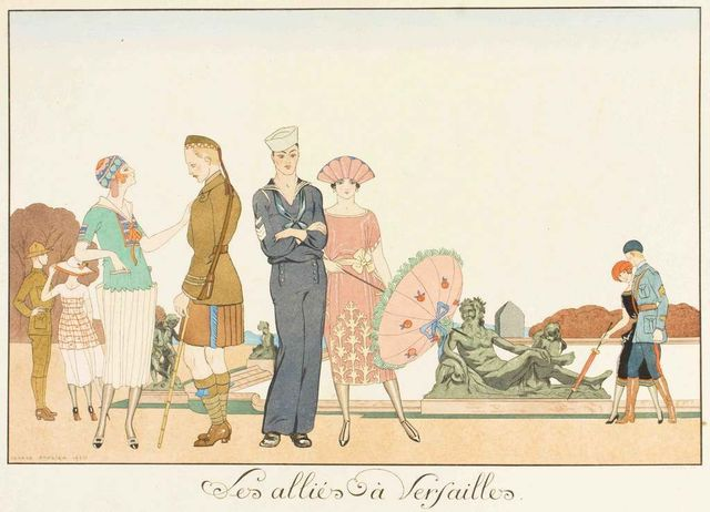 Georges Barbier, 'Les Allies a Versailles', 1920, Wallector