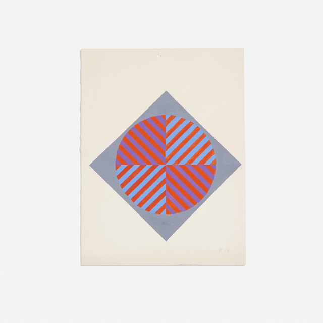 Ernst Benkert, 'Untitled (no. 78)', 1960, Drawing, Collage or other Work on Paper, Watercolor on paper, Rago/Wright