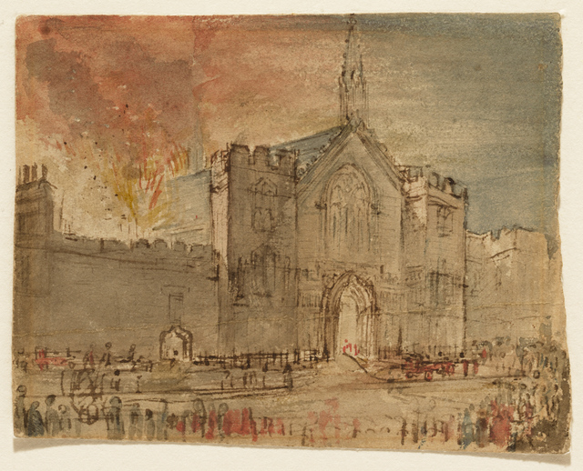 , 'The Houses of Parliament on Fire,' 1834, Clark Art Institute