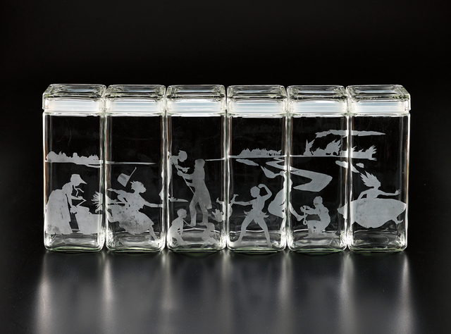 Kara Walker, 'Untitled (Canisters)', 1997, Print, The complete set of six etched glass canisters, Phillips