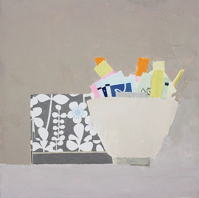 , 'Still Life with Packets and Box,' 2015, Thomas Deans Fine Art