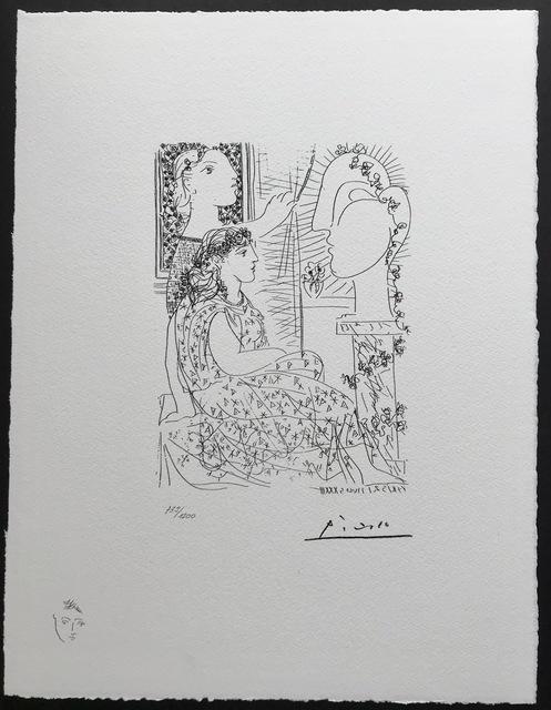 Pablo Picasso, 'Deux femmes regardant une tête sculptée (Suite Vollard Planche XLII)', 1973, ByNewArt