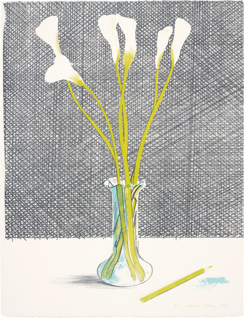 David Hockney, 'Lillies, from Europäische Graphik No VII', 1971, Phillips