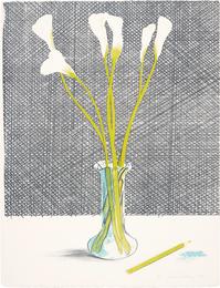 David Hockney, 'Lillies, from Europäische Graphik No VII,' 1971, Phillips: Evening and Day Editions