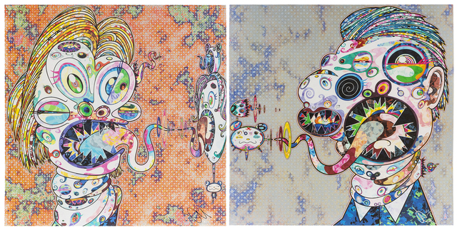 Takashi Murakami, 'Homage to Francis Bacon: Head of Isabel Hawthorne and Head of George Dyer (a pair)', John Moran Auctioneers