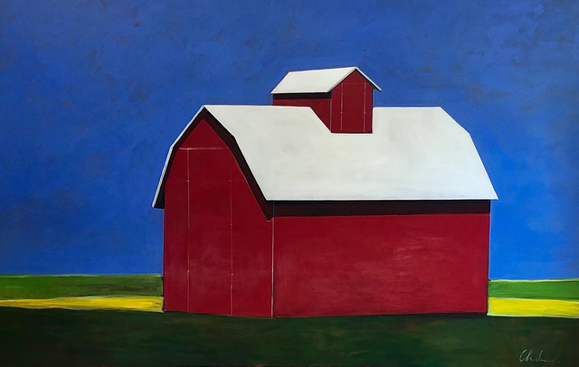 Melissa Chandon, 'Red Barn at Noon', 2019, Painting, Acrylic on Canvas, Caldwell Snyder Gallery