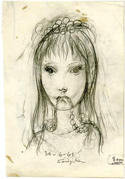 , 'Jeune fille mordillant son collier,' 1961, Arts et Autographes