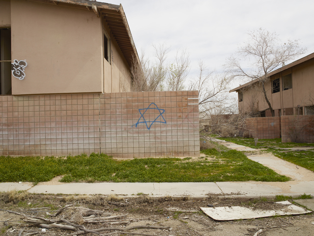 Richard Misrach, 'Jewish Star, George Air Base, Victorville, California', 2017, Photography, Pigment print, Fraenkel Gallery