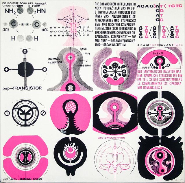 , 'Organischer Transistor (Druck für Faltplakat),' 1965, Galerie SOON