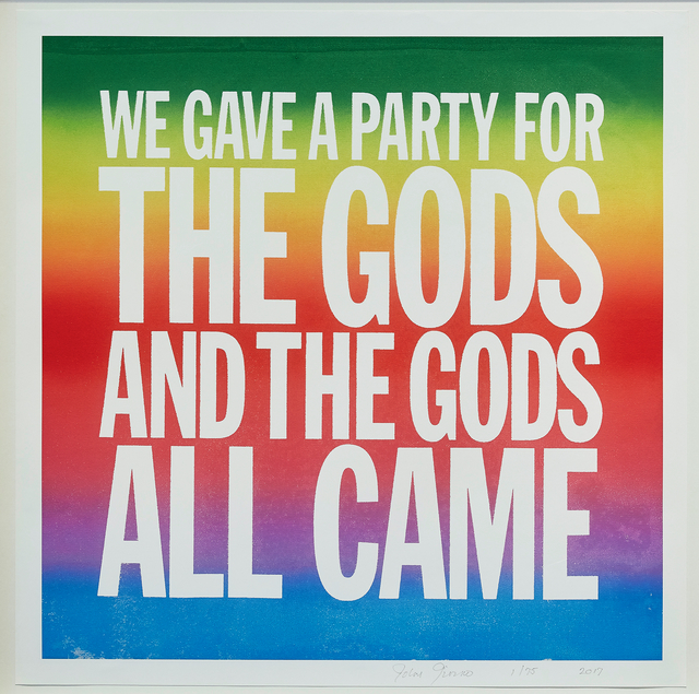 , 'WE GAVE A PARTY FOR THE GODS AND ALL THE GODS ALL CAME,' 2017, Cahiers d'Art
