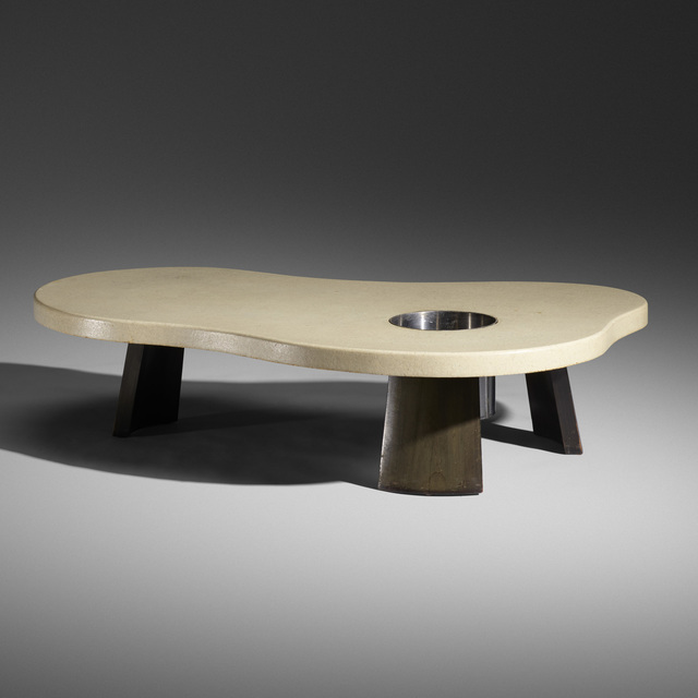 Johnson Furniture Co., 'Rare coffee table with planter', c. 1948, Wright