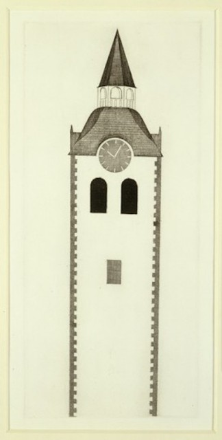 David Hockney, 'The Church Tower and the Clock from Illustrations for Six Fairy Tales from the Brothers Grimm', 1969, Grob Gallery