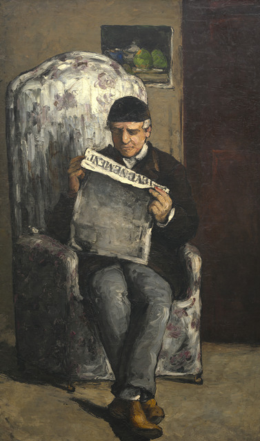 "Paul Cézanne, 'The Artist's Father, Reading ""L'Événement""', 1866, National Gallery of Art, Washington, D.C."