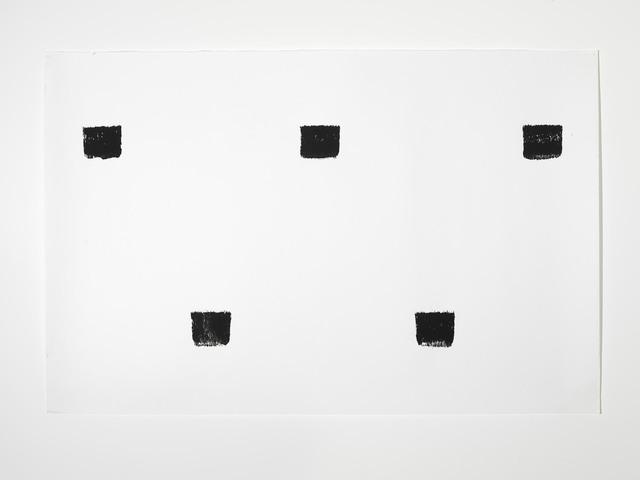 , 'Empreintes de pinceau n°50 répétés à intervalles règuliers de 30 cm,' 1990, Alfonso Artiaco