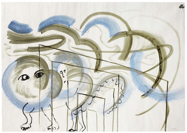 , 'Ohne Titel (Tier in Blau) / Untitled (Animal in Blue),' 1983, Suzanne Tarasieve