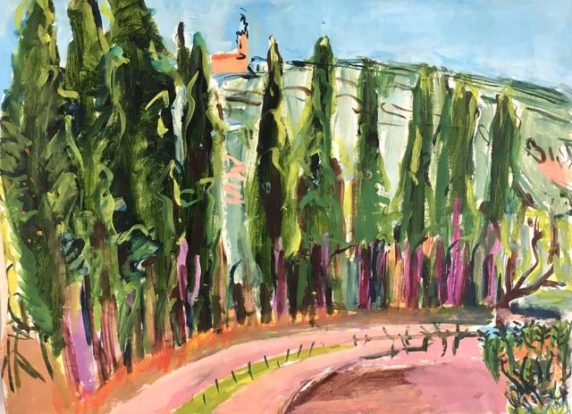 Elizabeth Cope, 'Cypresses on Road, Domaine des Anges ', 1997, Maison Depoivre