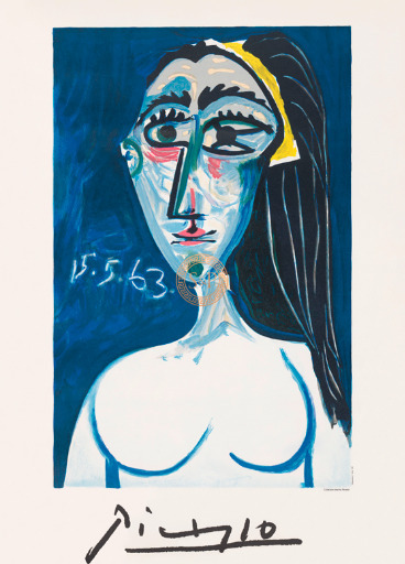 Pablo Picasso, 'Buste de Femme Nue Face', 1963, S & P
