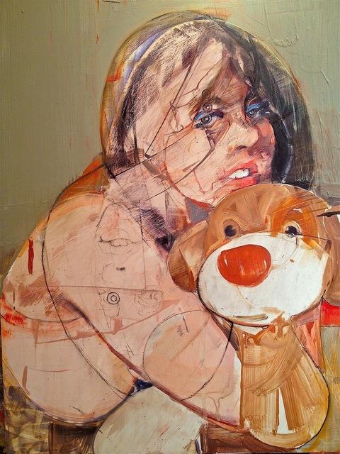 Karim Hamid, 'Lady With Brown Bear', 2012, VICTORI+MO CONTEMPORARY
