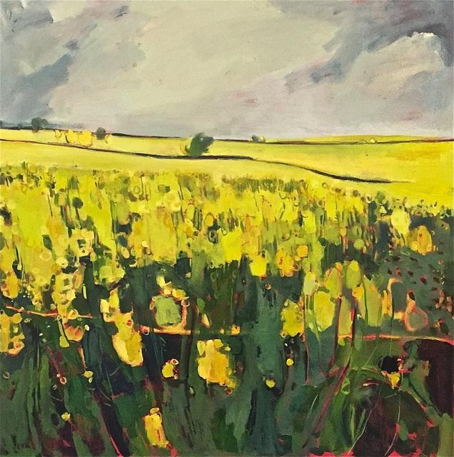 , 'Grey Sky, Yellow Field,' 2018, Wychwood Art