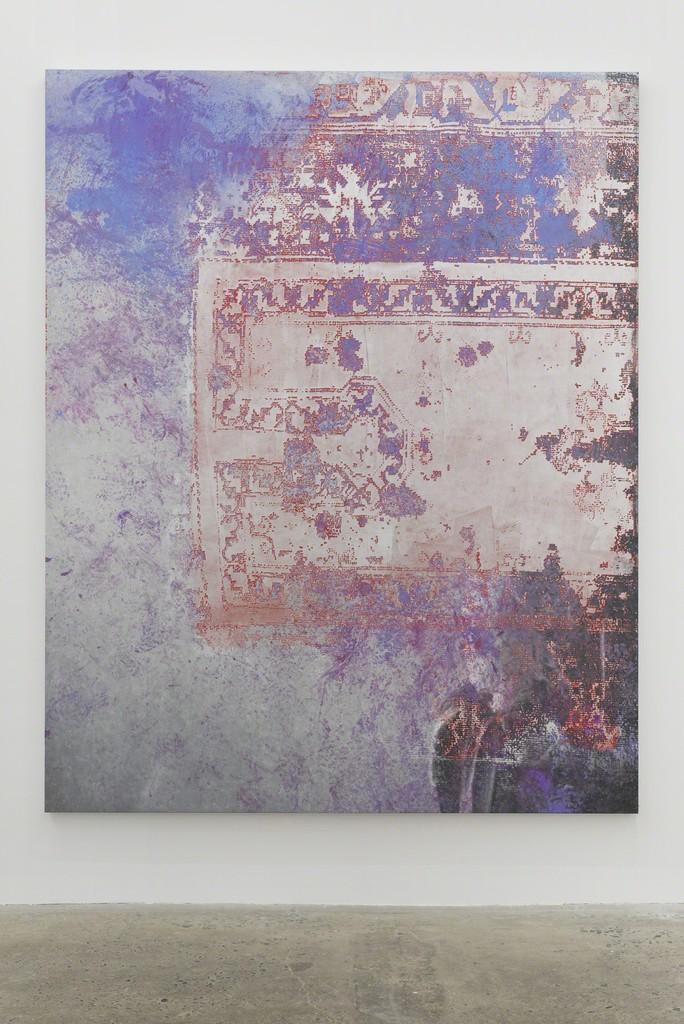 Rudolf Stingel, Untitled, 2015, Oil and enamel on canvas, 95 × 76 inches (241.3 × 193 cm). © Rudolf Stingel. Photo by John Lehr, courtesy of the artist